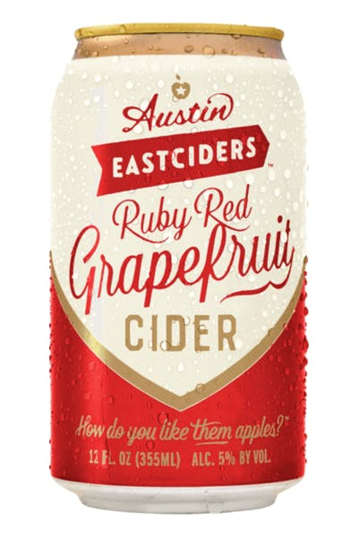 Austin Eastciders Ruby Red Grapefruit Cider