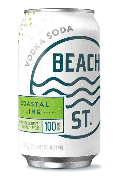 Beach Street Coastal Lime Vodka Soda