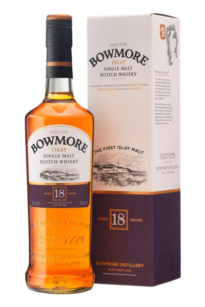 Bowmore Islay Single Malt Scotch Whisky 18 Year