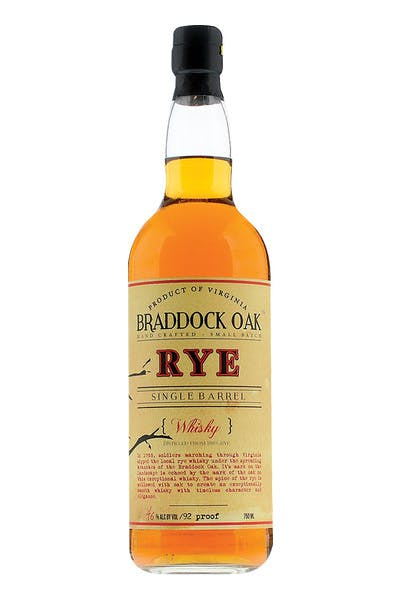 Braddock Oak Single Barrel Rye