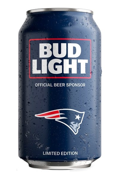 Bud Light New England Patriots NFL Team Can
