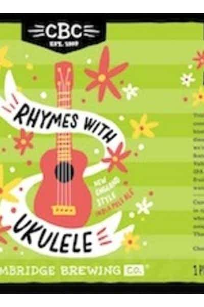 Cambridge Brewing Company Ryhmes With Ukelele