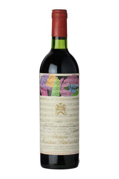 Chateau Mouton Rothschild 1975 Signed By Andy Warhol