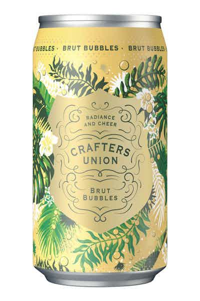 Crafters Union Brut Sparkling Bubbles White Wine Can