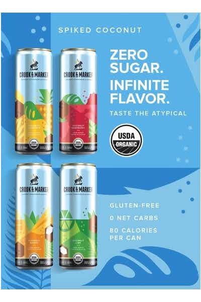Crook & Marker Spiked Sparkling Coconut Seltzer Variety Pack