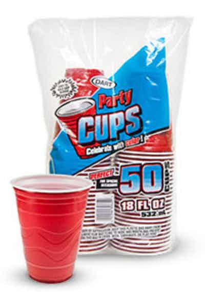 Dart Red Plastic Party Cups