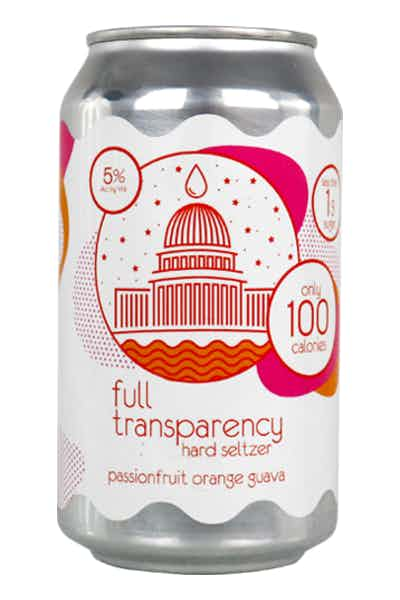 DC Brau Full Transparency Hard Seltzer POG