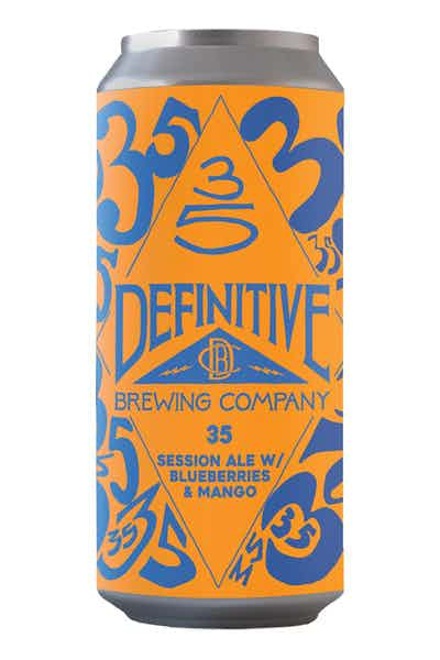 Definitive 35 w/ Blueberries & Mango Session IPA