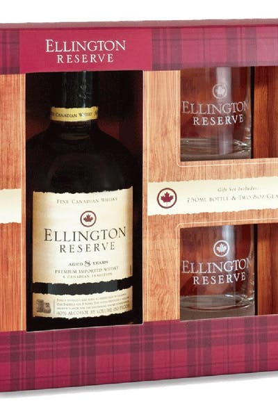 Ellington Reserve Whisky Gift Pack With 2 Glasses
