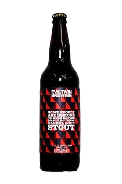 Evil Twin Brewing Some People Are Immune To Good Advice Maple Bourbon Barrel Aged Imperial Stout