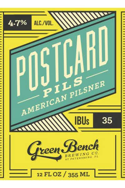 Green Bench Postcard Pilsner