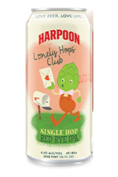 Harpoon Lonely Hops Club Single Hop Red Rye IPA