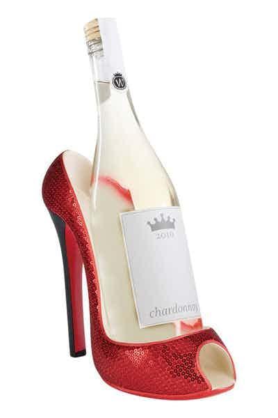 High Heel Wine Btl Holder   Red