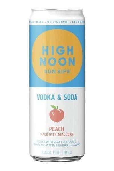 High Noon Peach Hard Seltzer