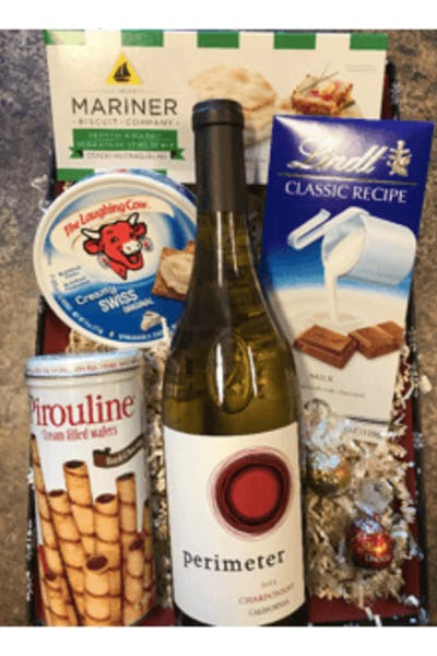 Holiday White Gift Basket