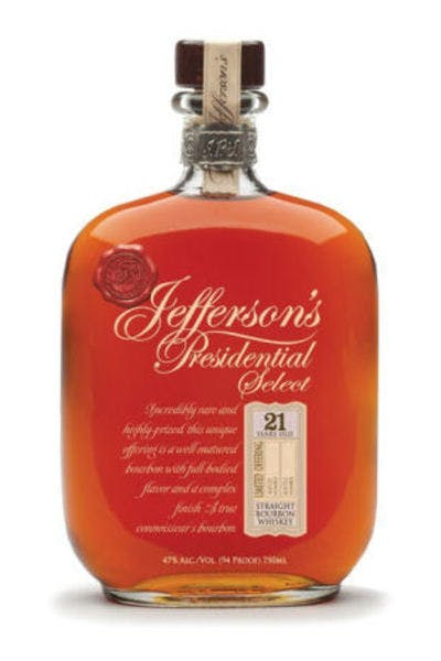 Jefferson's Presidential Select 21 Year Bourbon