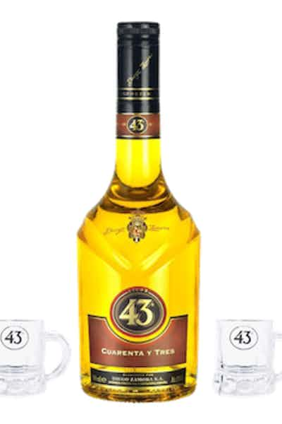 Licor 43 W/2 Glasses
