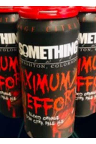 Something Brewery Maximum Effort Blood Orange DDH Citra Pale Ale