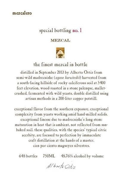 Mezcalero Special Bottling No.1