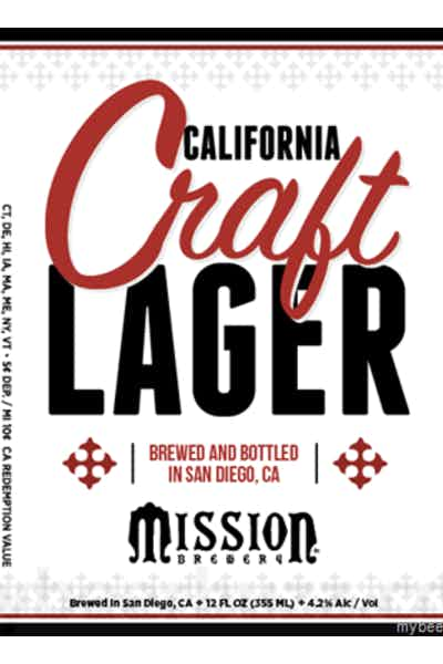 Mission Brewery Craft Lager