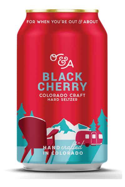O&A Black Cherry Colorado Craft Hard Seltzer
