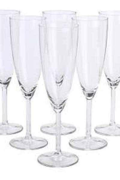 Plastic Champagne Flutes (six)