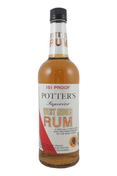 Potter's Rum 151 Proof