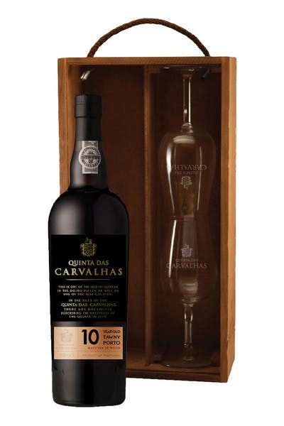 Quinta Das Carvalhas 10 Year Tawny Port 2 Glass Gift