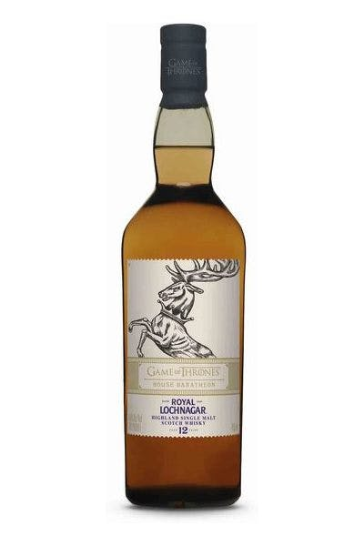 Royal Lochnagar Game of Thrones House Baratheon 12 Year Old Highland Single Malt Scotch Whisky