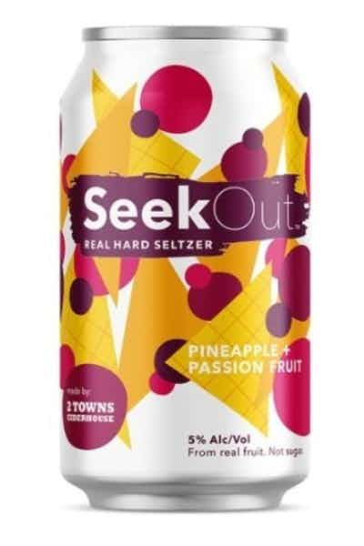 2 Towns SeekOut Hard Seltzer Pineapple & Passionfruit