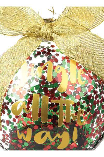 Slant Glass Jingle Ornament