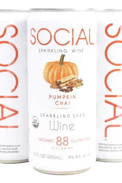 Social Pumpkin Chai Sparkling Saké Wine