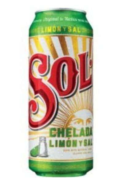 Sol Chelada Limón Y Sal Import Cerveza Beer