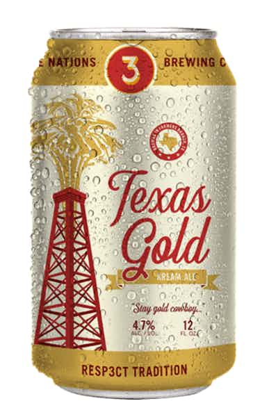Three Nations Texas Gold Kream Ale
