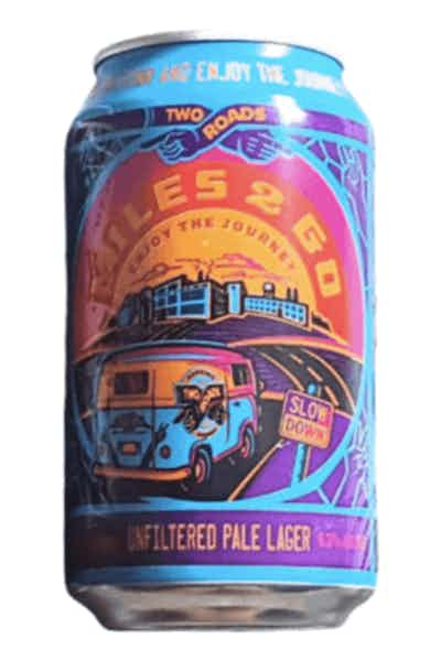 Two Roads Miles 2 Go Unfiltered Pale Lager