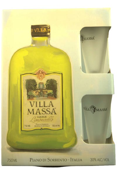 Villa Massa Lemon Gift Pack With Glass