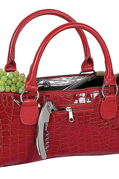 Wine Clutch   Red