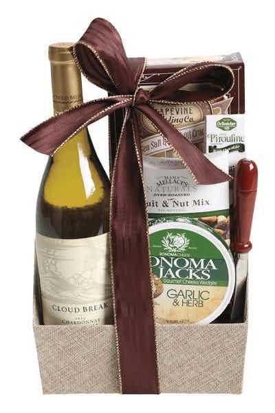 Wine Gift Basket Cloud Break Chardonnay