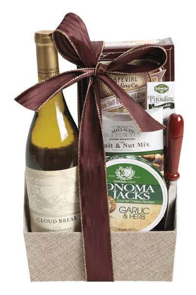 Wine Gift Basket Cloud Break Chardonnay